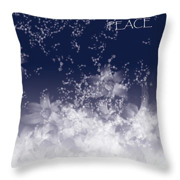 Throw Pillow featuring the digital art Peace by Trilby Cole