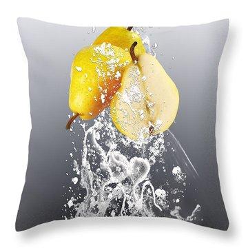 Pear Splash Collection Throw Pillow