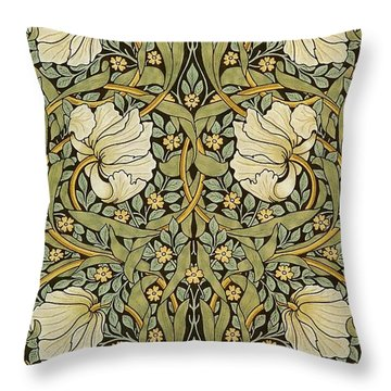 Pimpernel Throw Pillow by William Morris