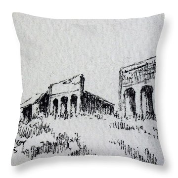 Pioneer Ghost Town Montana Throw Pillow by Kevin Heaney
