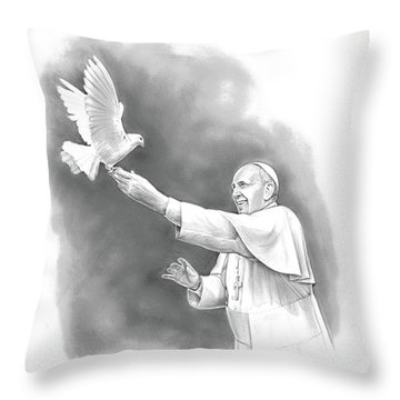 Pope Francis Throw Pillow