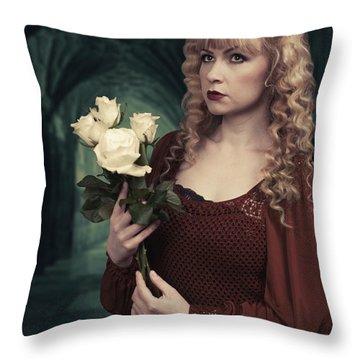Pre-raphaelite Woman Throw Pillow
