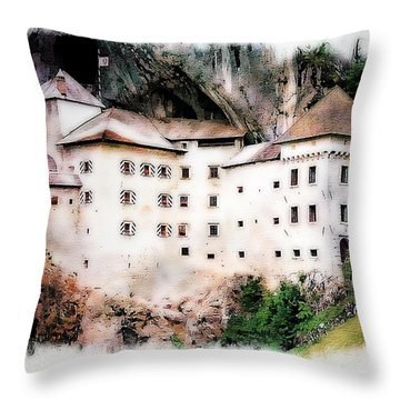 Predjama Castle, Predjama Slovenia Throw Pillow