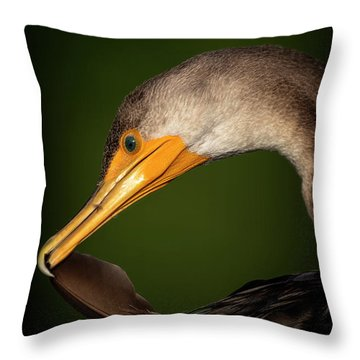 Preening Throw Pillow