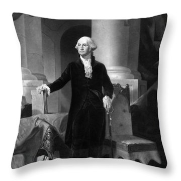 President George Washington  Throw Pillow by War Is Hell Store