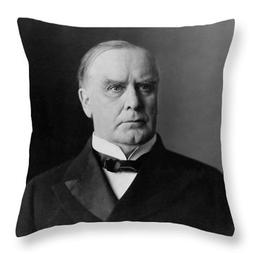 President William Mckinley Throw Pillow by War Is Hell Store