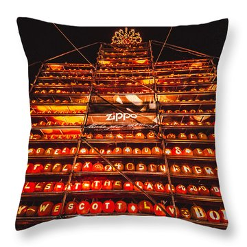 Throw Pillow featuring the photograph Pumpkinfest 2015 by Robert Clifford