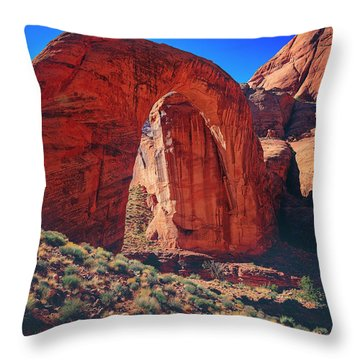 Throw Pillow featuring the photograph Rainbow Bridge Monument by Peter Lakomy