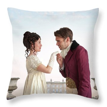 Regency Couple  Throw Pillow
