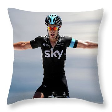 Richie Porte 4 Throw Pillow