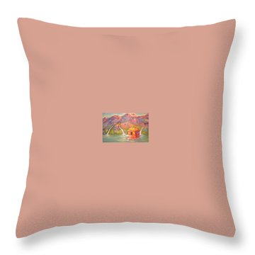 3 Rivers Temple Throw Pillow