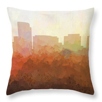 Throw Pillow featuring the digital art Rosslyn Virginia Skyline by Marlene Watson