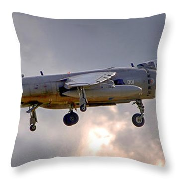 Royal Navy Sea Harrier Throw Pillow