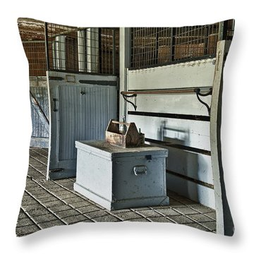 Rustic Stable Throw Pillow by John Greim