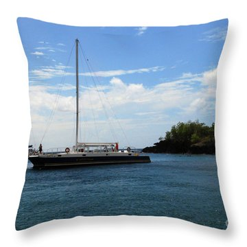 Throw Pillow featuring the photograph Sail Boat by Gary Wonning