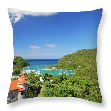 Throw Pillow featuring the photograph Saint Lucia by Gary Wonning