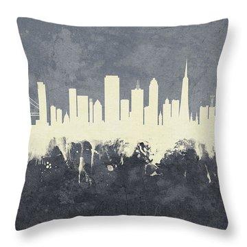 San Francisco California Skyline Throw Pillow
