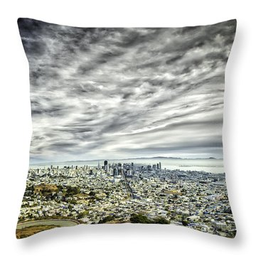 Throw Pillow featuring the photograph San Francisco by Chris Cousins