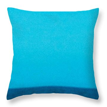 Blue Sea Throw Pillow by Shunsuke Kanamori