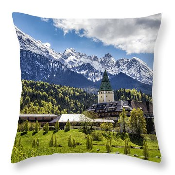 Schloss Elmau Throw Pillow