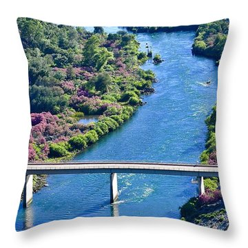 Shasta Dam Spillway Throw Pillow