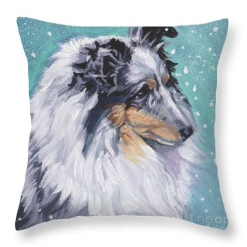 Throw Pillow featuring the painting Shetland Sheepdog by Lee Ann Shepard