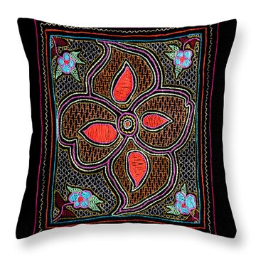 Throw Pillow featuring the photograph Shipibo Art by Ulrich Schade