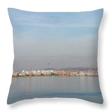 Shoreline Reflections Throw Pillow