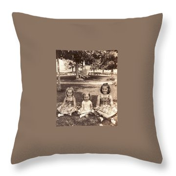 3 Sisters Throw Pillow by Quwatha Valentine