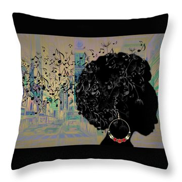 Sound Of Music Collection Throw Pillow by Marvin Blaine