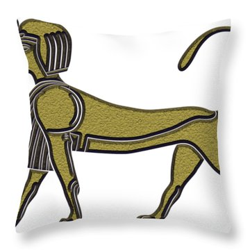 Sphinx - Mythical Creature Of Ancient Egypt Throw Pillow
