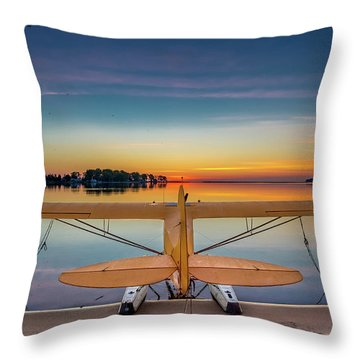 Splash-in Sunrise  Throw Pillow