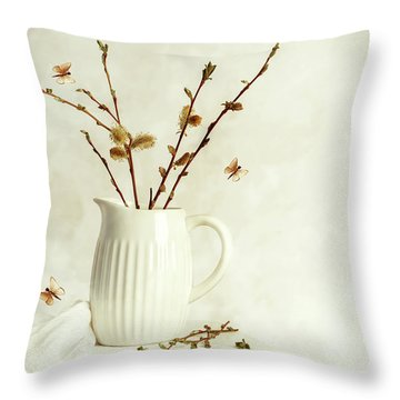 Springtime Still Life Throw Pillow