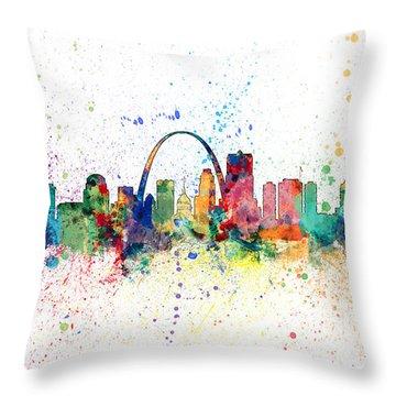 St Louis Missouri Skyline Throw Pillow