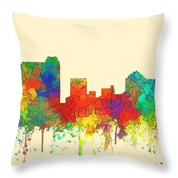 St Petersburg Florida Skyline Throw Pillow