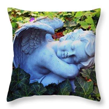 Throw Pillow featuring the sculpture Stillness by Tom Druin