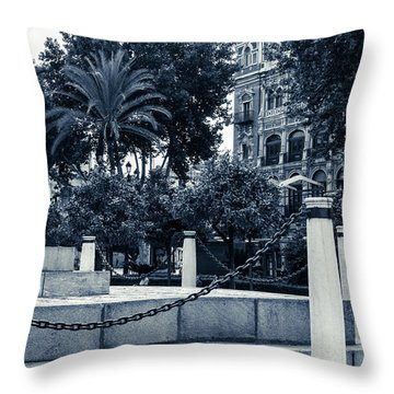 Streets Of Seville - Plaza Nueva Throw Pillow by Andrea Mazzocchetti