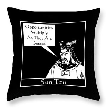 Sun Tzu Throw Pillow