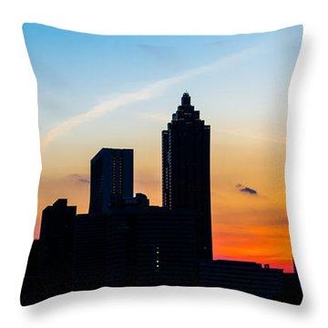 Sunset In Atlanta Throw Pillow