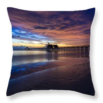 Sunset Naples Beach Florida Throw Pillow