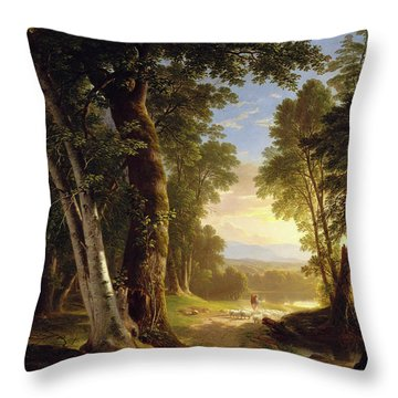 The Beeches Throw Pillow
