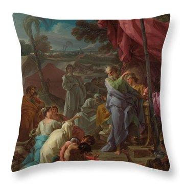 The Brazen Serpent Throw Pillow