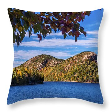 The Bubbles And Jordan Pond. Throw Pillow