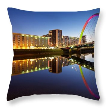 Throw Pillow featuring the photograph The Clyde Arc by Stephen Taylor
