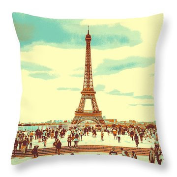 The Eiffel Tower Throw Pillow