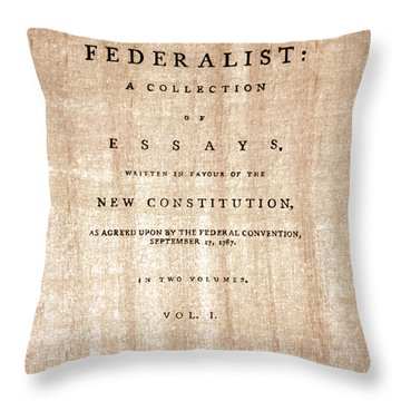 The Federalist, 1788 Throw Pillow