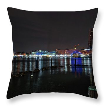 Throw Pillow featuring the photograph The Harbor View by Mark Dodd