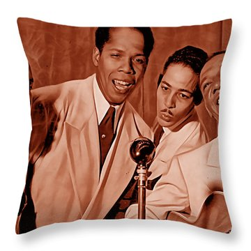 The Ink Spots Collection Throw Pillow by Marvin Blaine