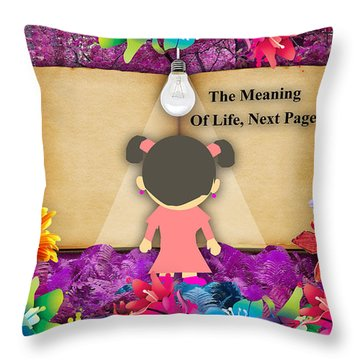 The Meaning Of Life Art Throw Pillow by Marvin Blaine