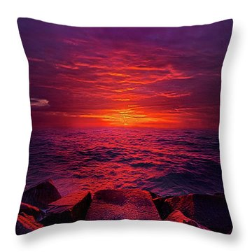 Throw Pillow featuring the photograph The Path by Phil Koch